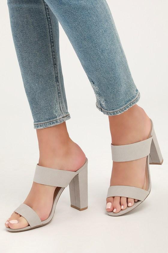 Light Grey Heels - High Heel Sandals
