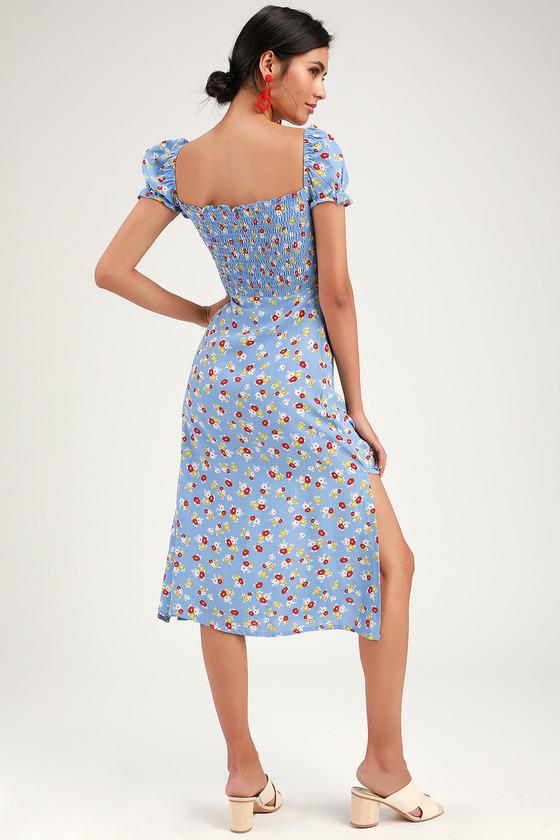a9a83a0b69621a Faithfull the Brand Castilo - Floral Print Dress - Blue Dress