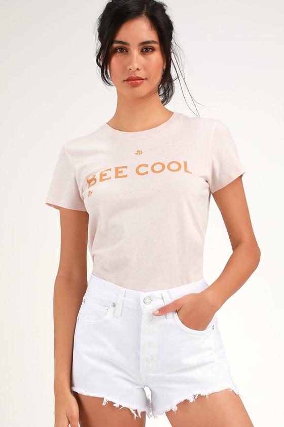12ee4cc6c4 AGOLDE Parker Vintage - White Denim Shorts - Cutoff Shorts