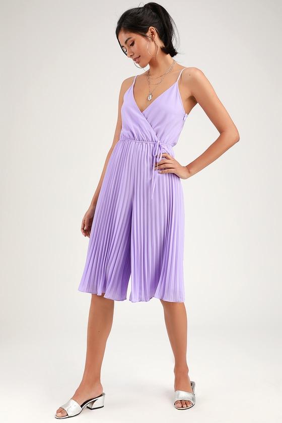 79ce410a0be6 Ali & Jay Be Mine Lavender Jumpsuit - Purple Culotte Jumpsuit
