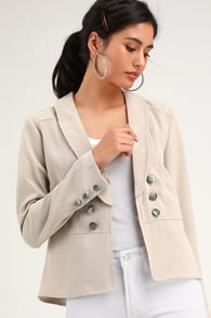 2ca03f3025 Cute Mauve Striped Blazer - Lightweight Blazer - Blazer