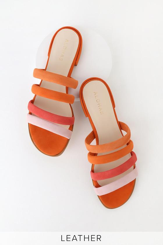 Alohas Emilia - Orange Sandals - Slide