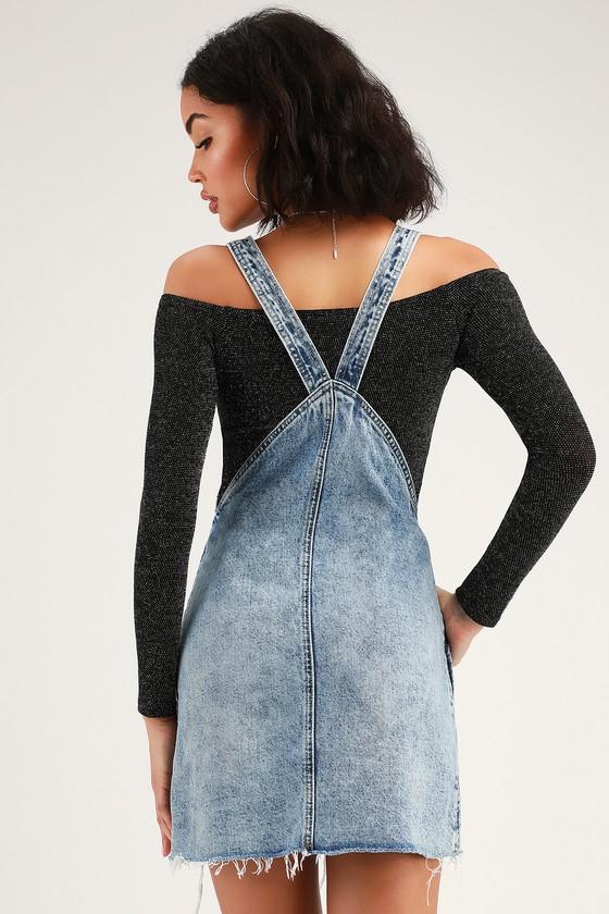 df53e3ed157 Blank NYC Blow the Bag Skirtall - Denim Skirt Overalls - Skirtall
