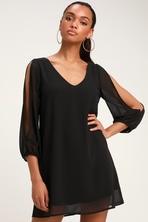 ef2f88136 Black Dress - Shift Dress - Shirt Dress