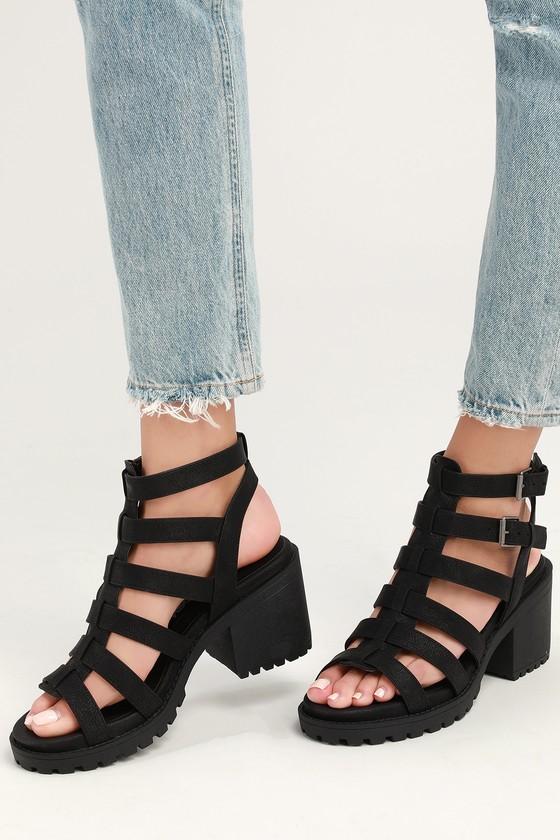 b33e8b9b81a2 Dirty Laundry Fun Stuff - High Heel Sandals - Chunky Sandals