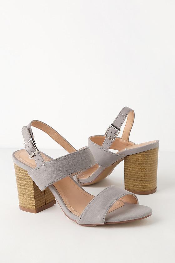 Heel Grey High Suede Rowan Sandals wZiTXuOPk