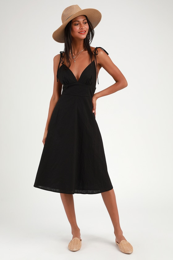 Outfits vestido negro casual