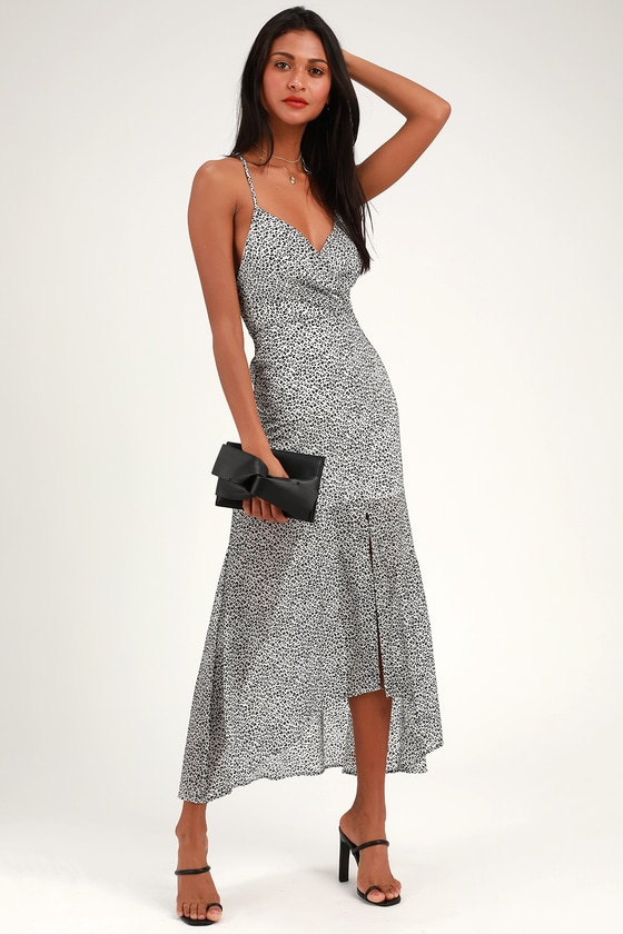 cf47e64cc724 4SI3NNA Christine - Leopard Print Dress - High-Low Dress