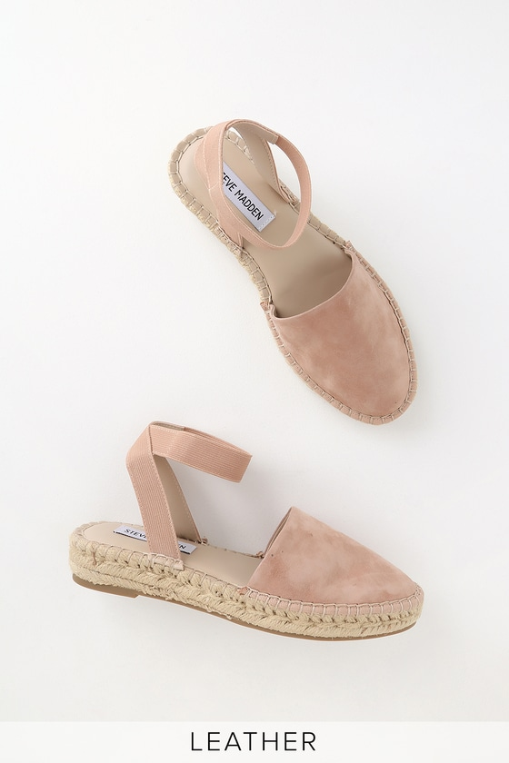 9b1e4f9a8 Steve Madden Moment - Camel Espadrilles - Suede Leather Shoes