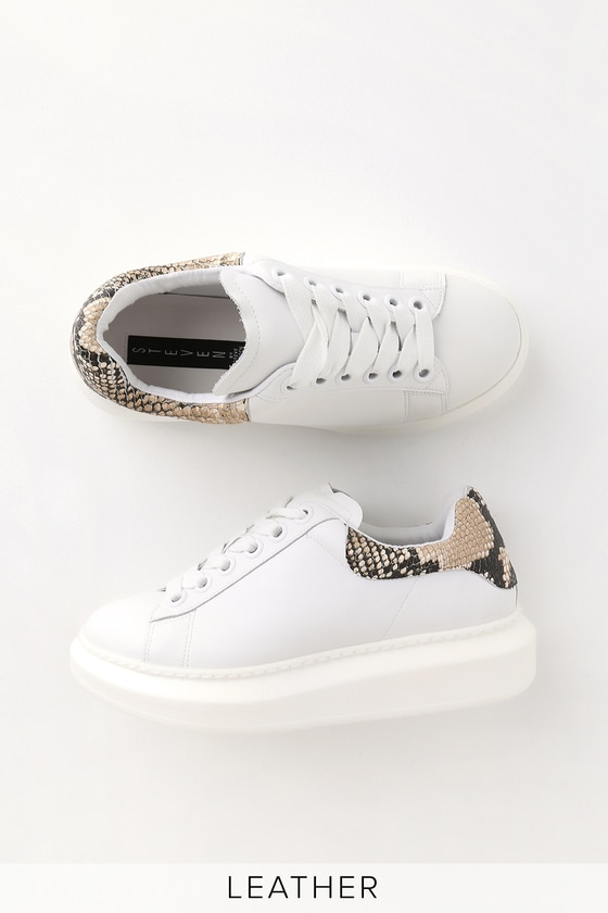 New Womens Ladies Rubber Sole Platform Snake Print Trainers Sneaker