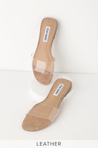 368e9d335bef58 Bev Clear Vinyl Slide Sandals