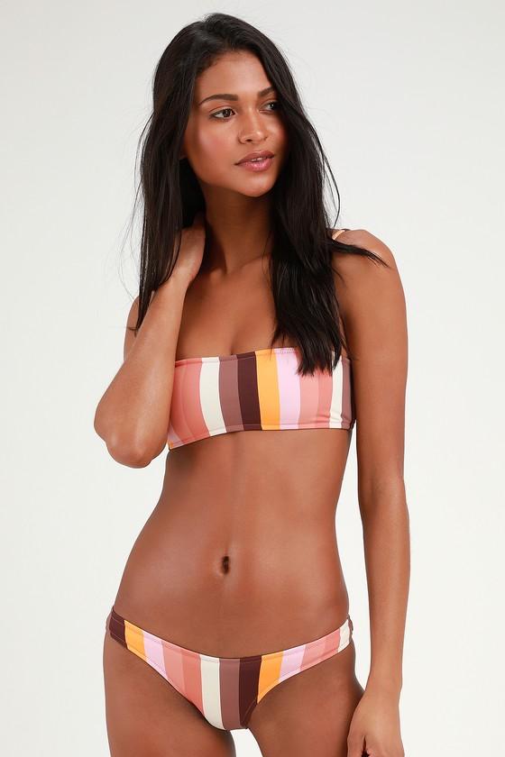 16bf424b6d9d4c Rhythm Sahara - Brown Multi Bikini - Striped Bikini Bottom