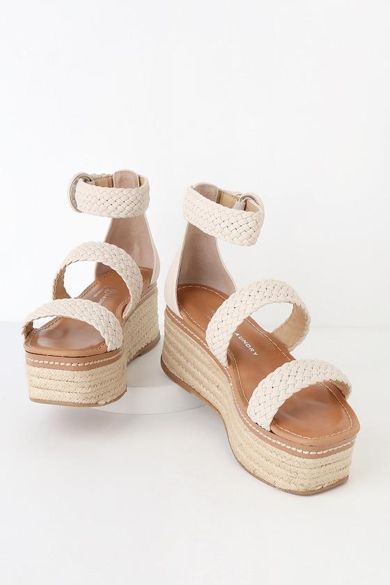 81ca87359b74 Chinese Laundry Zella - Ecru Sandals - Espadrille Flatform Sandal