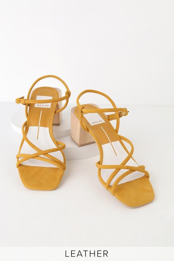 628b1ffb141 Dolce Vita Zayla - Yellow Sandals - Strappy Sandals - Heel Sandal