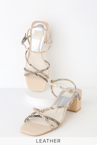 e9269d40e91d Zayla Snake Print Embossed Leather Strappy High Heel Sandals