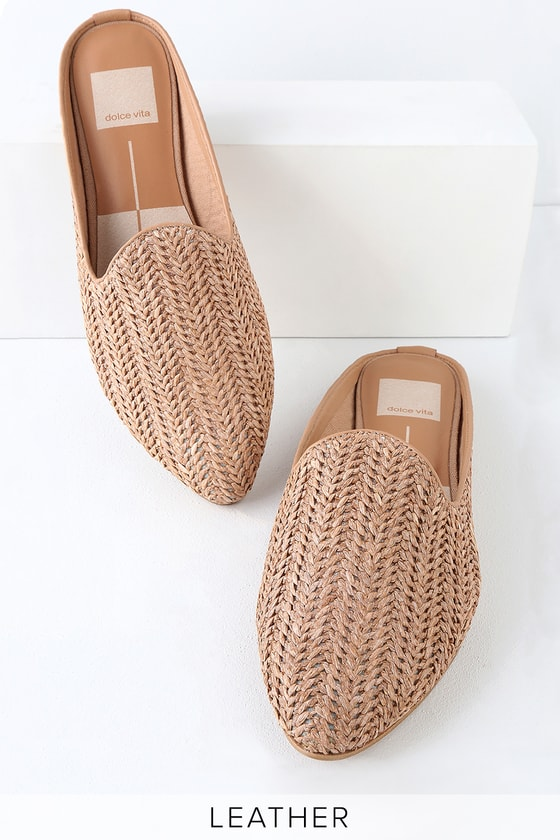 05f5d5721825 Dolce Vita Grant - Natural Woven Loafers - Raffia Slides - Flats