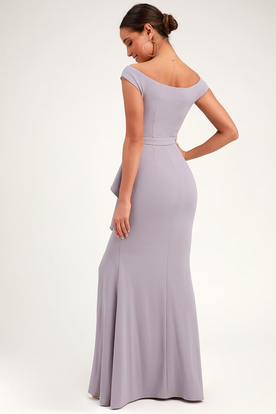 888ee6fbdff6 Lovely Lavender Maxi Dress - Mermaid Dress - Ruffled Maxi Dress