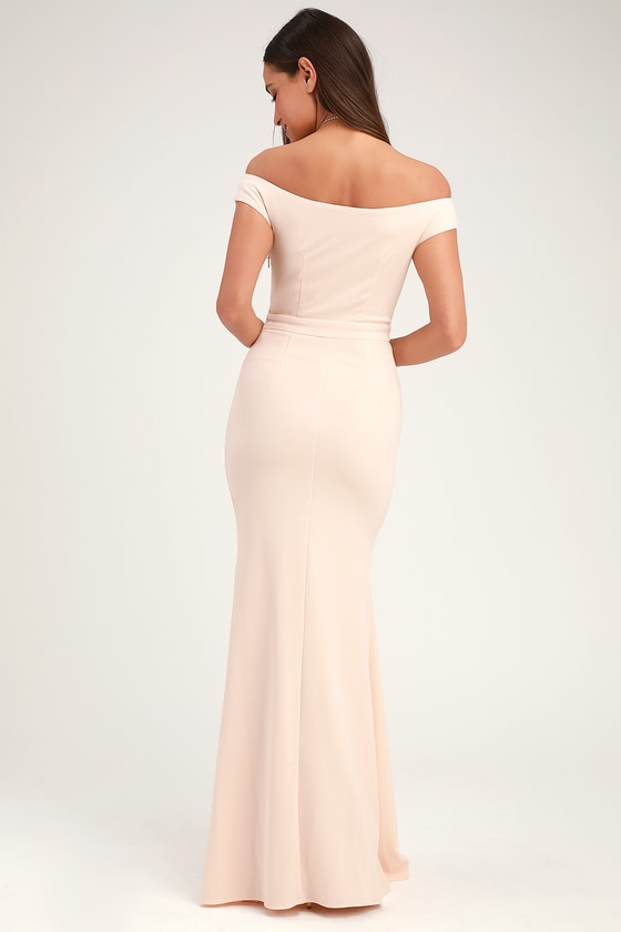 25ed3b92c666 Lovely Cream Maxi Dress - Mermaid Dress - Ruffled Maxi Dress