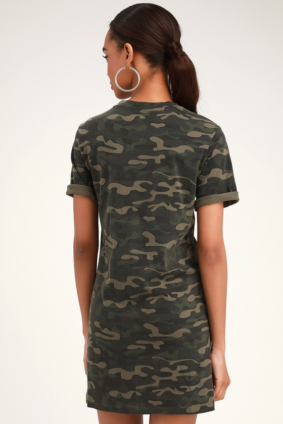 42ff46ee68e5f RD Style Camo Print Dress - T-Shirt Dress - Casual Camo Dress