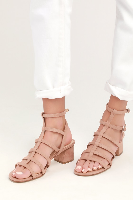 0d99055585dc Chinese Laundry Monroe - Dark Nude Sandals - Gladiator Heels