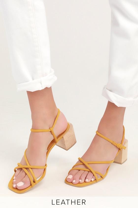 34a23f93fd3 Dolce Vita Zayla - Yellow Sandals - Strappy Sandals - Heel Sandal