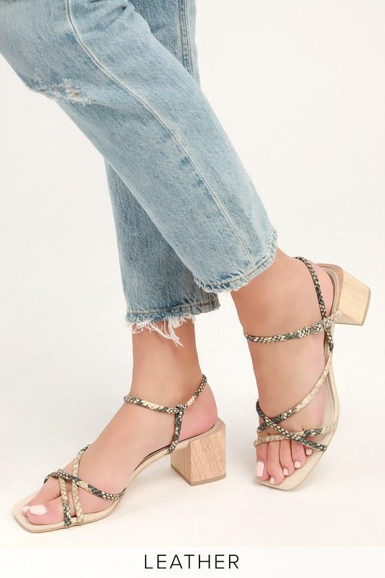 b67b1fbeec4 Dolce Vita Zayla - Snake Sandals - Strappy Sandals - Heel Sandals