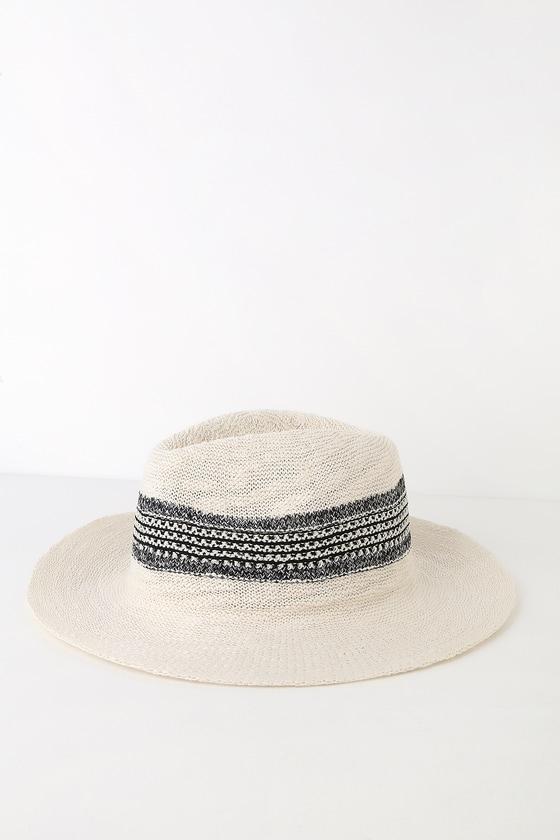 882a795cf Cute White Straw Hat - Sun Hat - Woven Hat - Fedora Hat