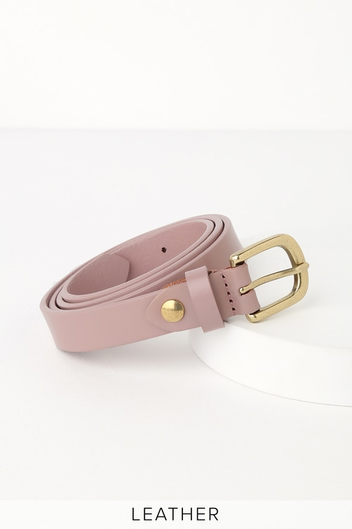 Make It Happen Taupe Leather Belt by Lulus
