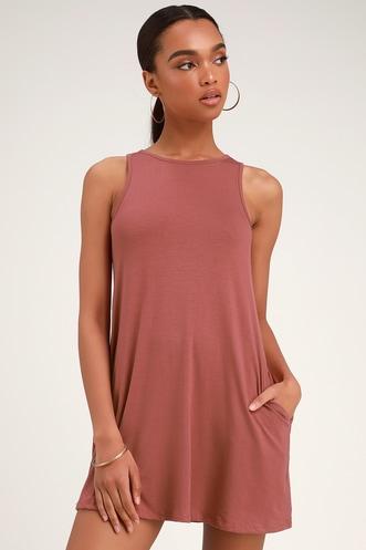 6ac06b71f9 Camila Washed Rose Sleeveless Swing Dress
