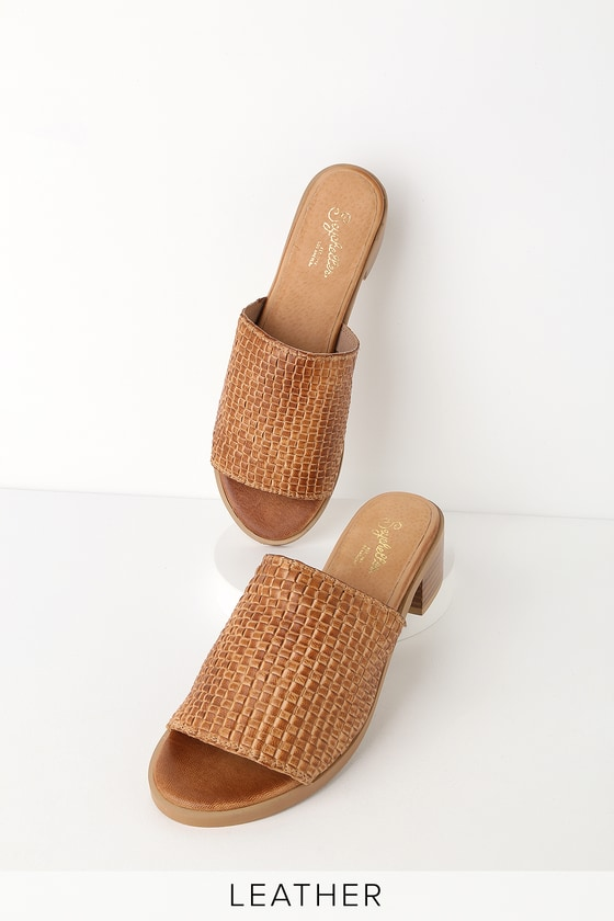 32a910fe0d84 Seychelles Hard to Find Tan Mules - Genuine Leather Slide Sandals