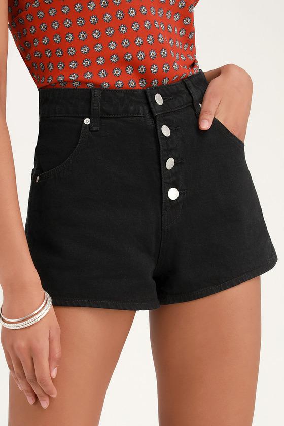 a60fe0bca6a Rolla's Dusters High Rise Slim - Black Denim Shorts - Shorts