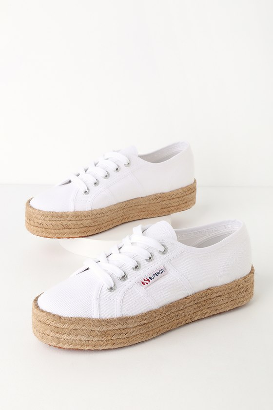8a12ef9c8 Superga 2730 COTROPEW - Espadrille Sneakers - White Sneakers