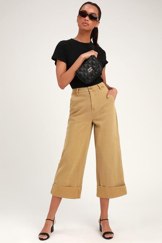 Wide Brookside Denim Jeans Leg Cropped Camel 5c3Lqj4AR