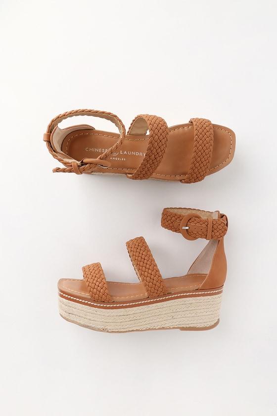 f43de94f911 Chinese Laundry Zella - Tan Sandals - Espadrille Flatform Sandal