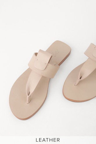 d14f65b937a Rio Natural Leather Flat Sandals