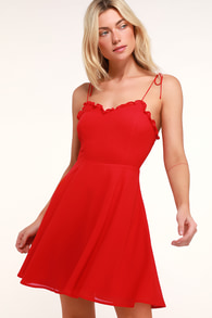 Red Cocktail Dresses For Women Look Fab In A Little Red