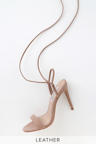 a15e8fe52beb Level Blush Genuine Nubuck Leather Lace-Up High Heel Sandals
