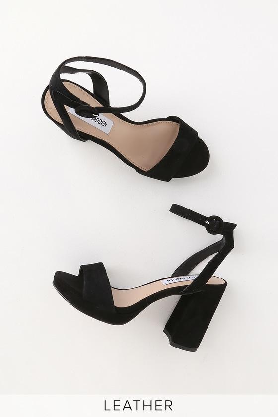 Steve Madden Perch - Black Suede Heels