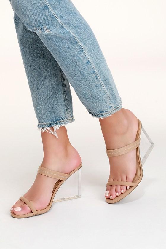 1bb9a89e6665 Cute Lucite Heels - Lucite Wedges - High Heel Sandals