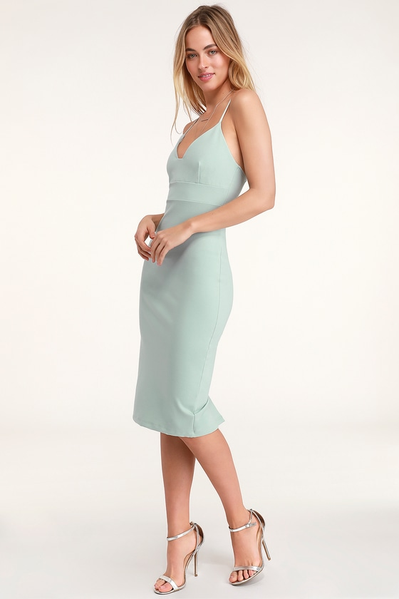 Teal Bandage Midi Dress