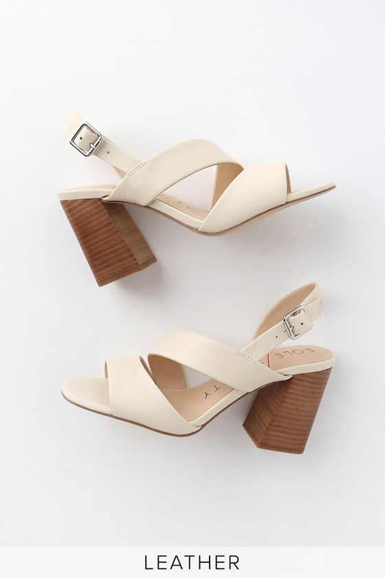 Cream Sole Sandals Jiya High Leather Society Heel e29WDHIEY