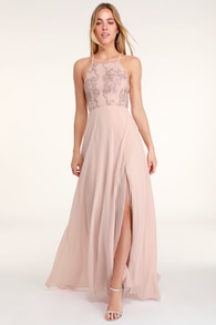 Love Always Remains Blush Pink Lace Maxi Dress 403d8899851e
