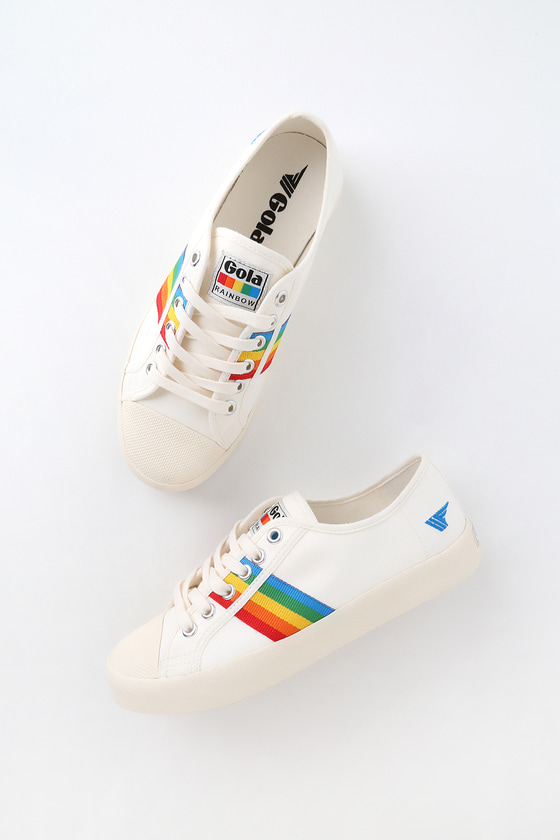 Gola Coaster Rainbow - Off White Multi