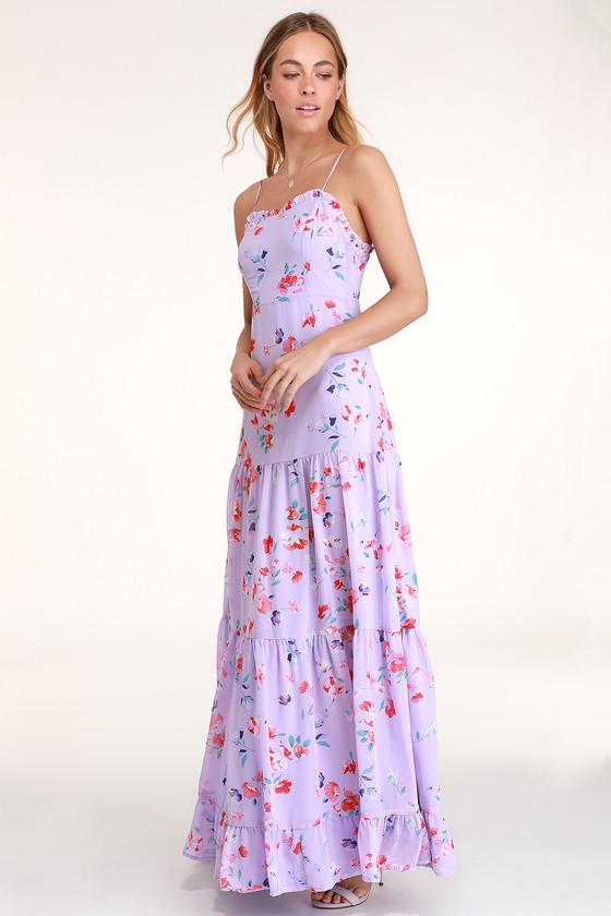 27e59830a339b Lovely Floral Maxi Dress - Lavender Maxi Dress - Floral Dress