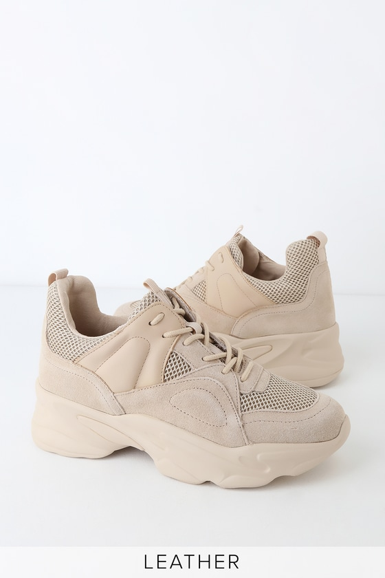 0dcb299e5c7 Movement Beige Multi Suede Leather Sneakers