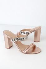 79457f158e26 Jewel by Badgley Mischka Dalinda - Bridal Flats - Satin Sandals
