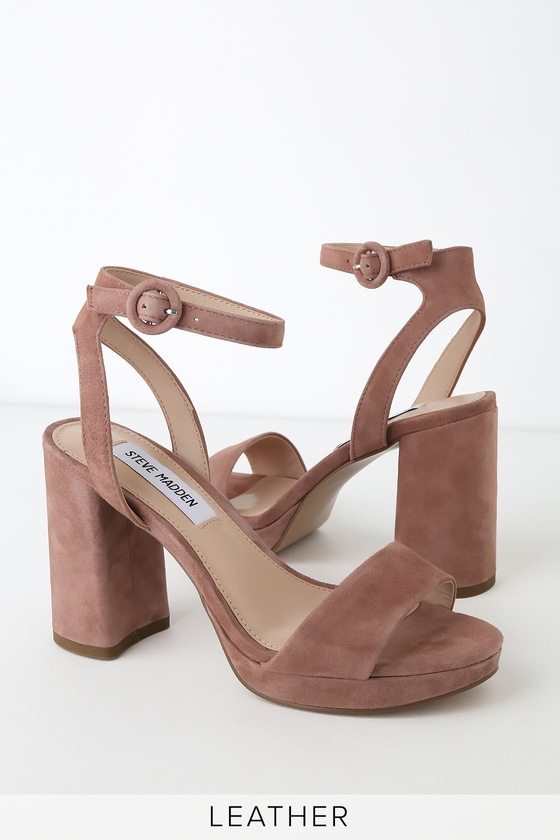 76b35c07574 Perch Blush Suede Leather High Heel Sandals