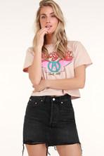 1ee6dc5a78 Gentle Fawn Maze Skirt - Black Skirt - Vegan Leather Skirt - Mini ...