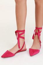 e4fa2c801 Cute Red Flats - Lace-Up Flats - Cutout Flats -  28.00