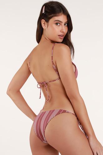 2f90c29910 Tida Mauve Purple Striped Skimpy Bikini Bottom